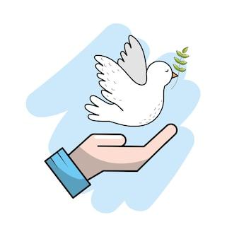 La paix mondiale dans le monde entier à l'esprit d'harmonie