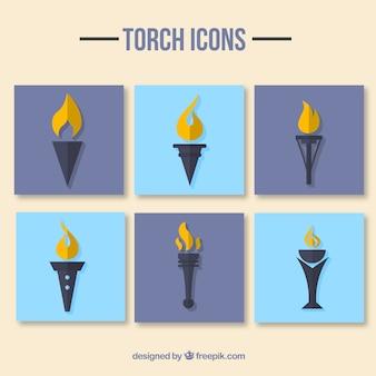Pak des icônes de la torche