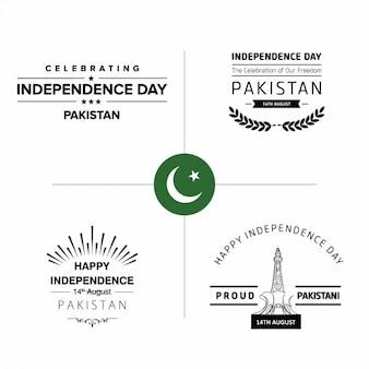 Pakistan badges de jour d'indépendance
