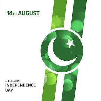 Pakistan jour de l'indépendance conception de fond