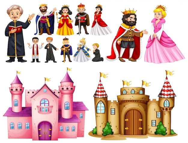 Palais royal et des personnages différents