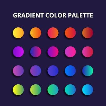 Palette de couleurs dégradées