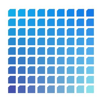 Palette de couleurs de vecteur de ciel bleu