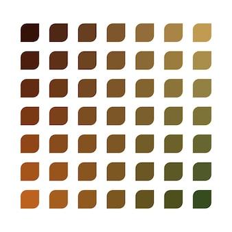 Palette de couleurs vectorielles ton terre