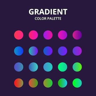 Palette de couleurs vibrantes dégradées. coloré