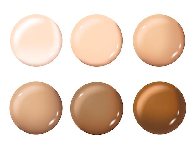 Palette de nuances de couleurs pour fond de teint maquillage cosmétique pour affiche de bannière