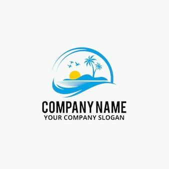 Palm beach logo design