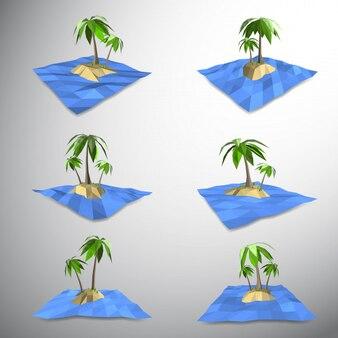Palmier sur une île déserte