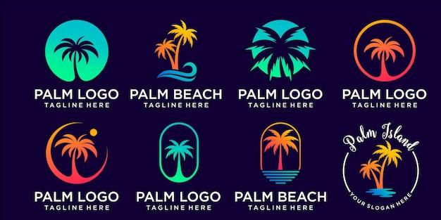 Palmier logo icône illustration vectorielle