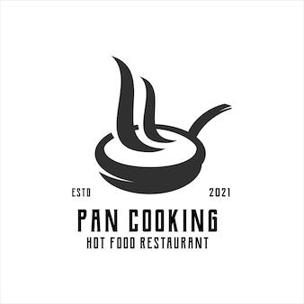 Pan chaud logo vintage rétro