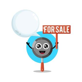 Pan à vendre mascotte de personnage mignon