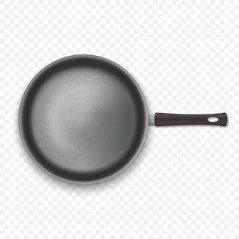 Pan vide réaliste en vue de dessus isolé sur fond blanc