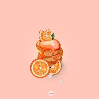 Pancake doux orange