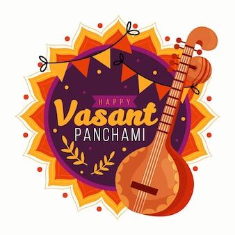 Panchami vasant dessiné à la main