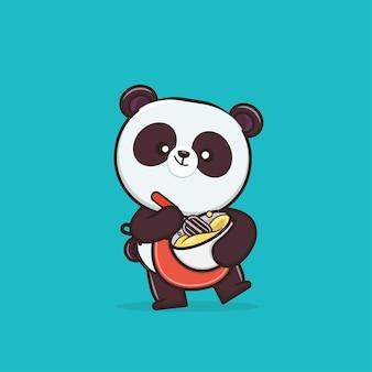 Panda Animal Mignon Vecteur Premium
