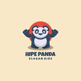 Panda logo mascotte