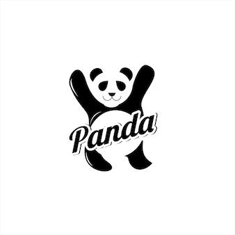 Panda logo moderne simple amusement animal