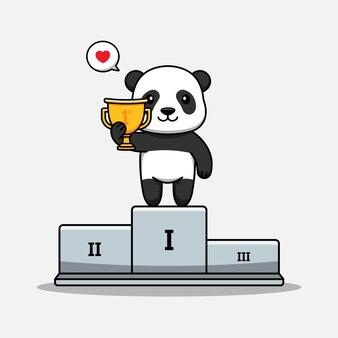 Le panda mignon gagne un concours