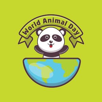 Panda mignon lors de la journée mondiale des animaux