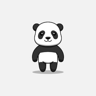 Panda mignon avec un visage heureux