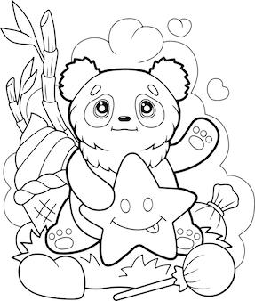 Panda Mignon Vecteur Premium