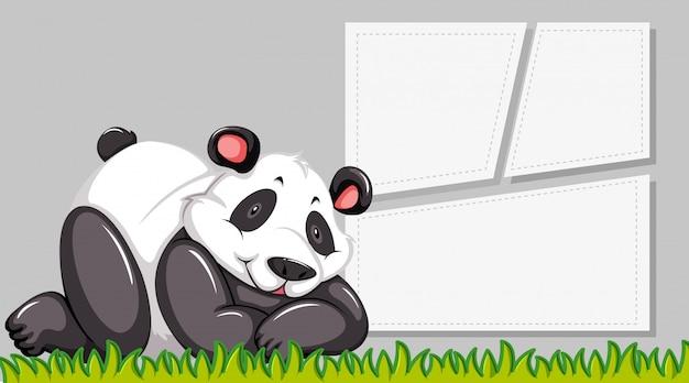 Panda sur note