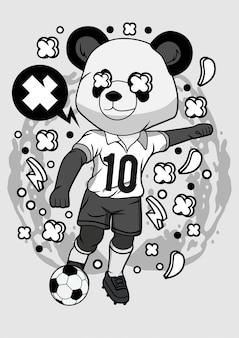 Panda soccer illustration