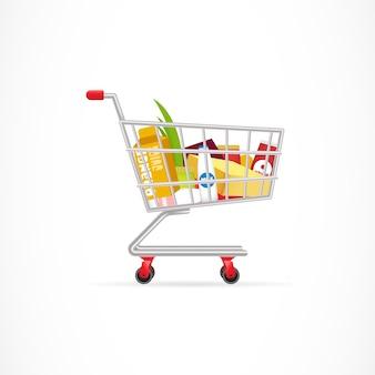 Panier d'achat avec des produits
