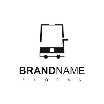 Panier d'achat et téléphone pour le logo de la boutique en ligne