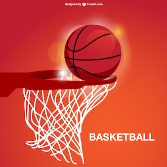 Panier de basket vecteur