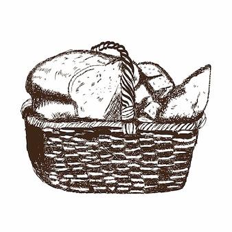 Panier de boulangerie
