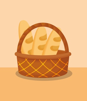 Panier avec du pain