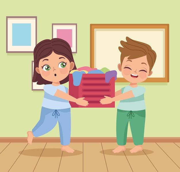 Panier de levage pour couple d'enfants