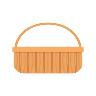 Panier de pique-nique en osier pour la nourriture et les boissonspanier en saule tressé avec une poignée