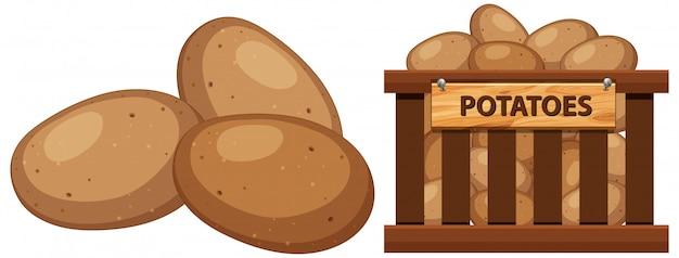 Panier rempli de pommes de terre