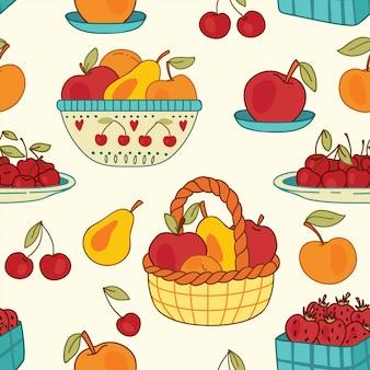 Paniers d'été aux fruits