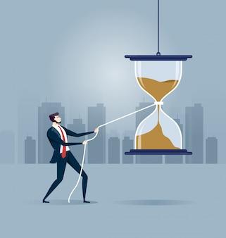 Paniquer et essayer d'arrêter le temps