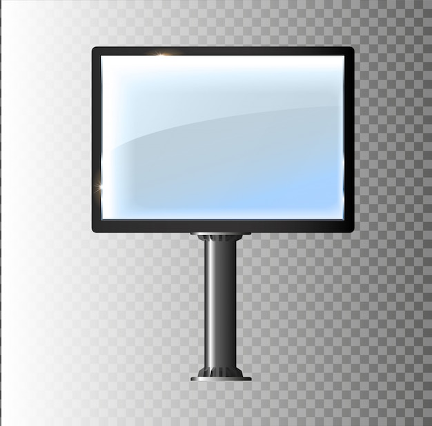 Panneau d'affichage blanc vierge pour la conception publicitaire.