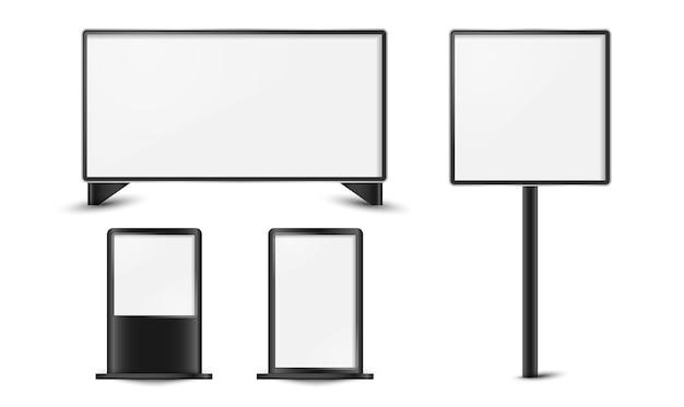 Panneau d'affichage blanc vierge pour la conception de vecteurs publicitaires.