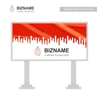 Panneau d'affichage d'entreprise