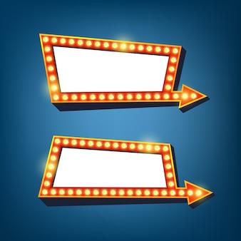 Panneau d'affichage léger avec cadre de flèche