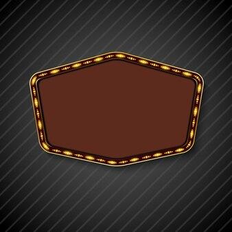 Panneau d'affichage rétro avec un espace pour le fond de texte noir