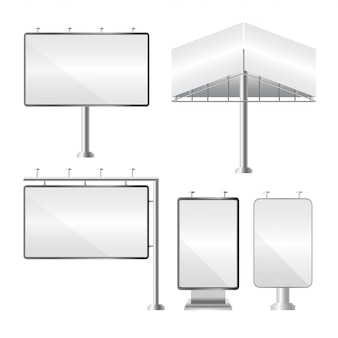 Panneau d'affichage vide. maquette et modèle pour votre publicité et votre conception.