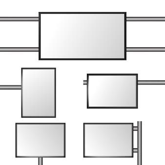 Panneau d'affichage vide, publication dans les médias commerciaux