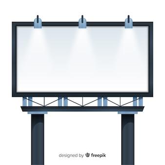 Panneau d'affichage vide réaliste