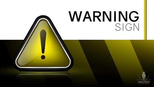 Panneau d'avertissement 3d.