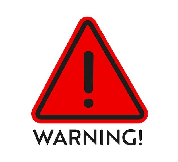 Panneau d'avertissement. autocollant. éléments de conception vectorielle pour les objets contenant des pièces dangereuses.