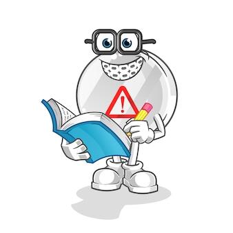 Panneau d'avertissement caricature de geek