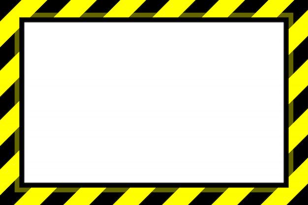 Panneau d'avertissement jaune bande noire