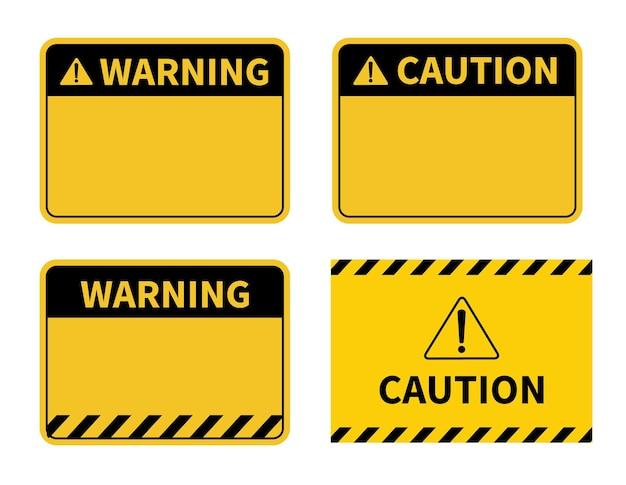 Panneau d'avertissement panneau d'avertissement vierge